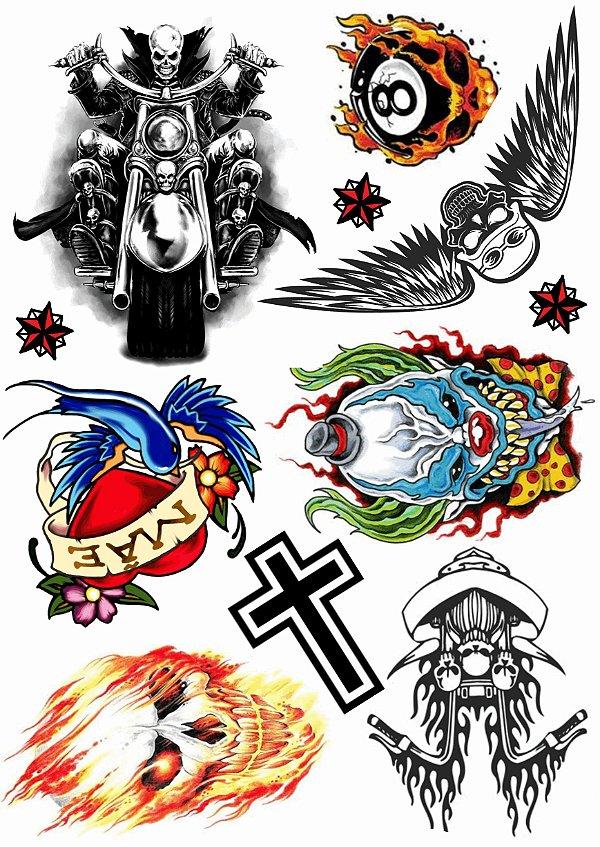 Kit Tatuagens Motoqueiro