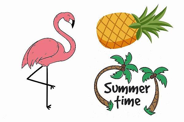 Criança Flamingo, Abacaxi e Summer