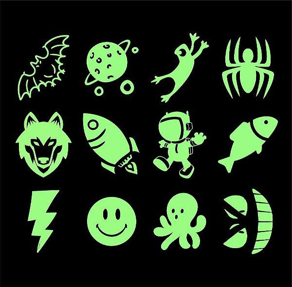 003 Kit Festa Grande Brilha no Escuro, Espaço e Animais