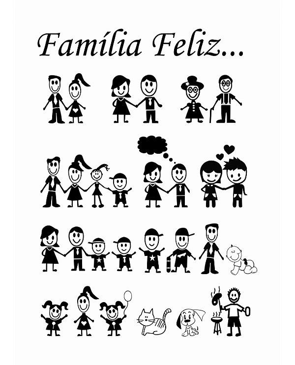 Adesivo Decorativo Família Feliz