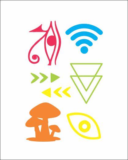 NEON 08 - Wifi, Cogumelo E Olho