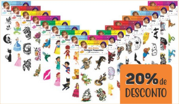 PROMOÇÃO - Kit Festa GD 2400 tatuagens