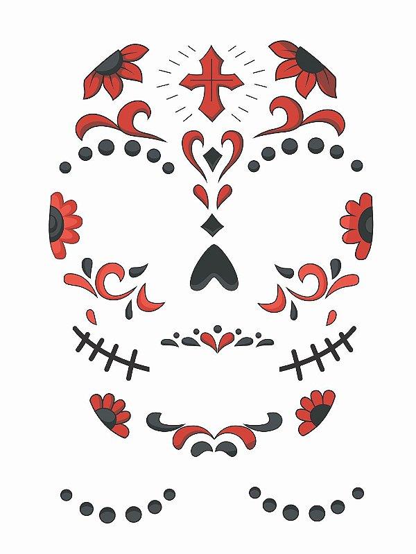 Tatuagem Catrina para o rosto 2