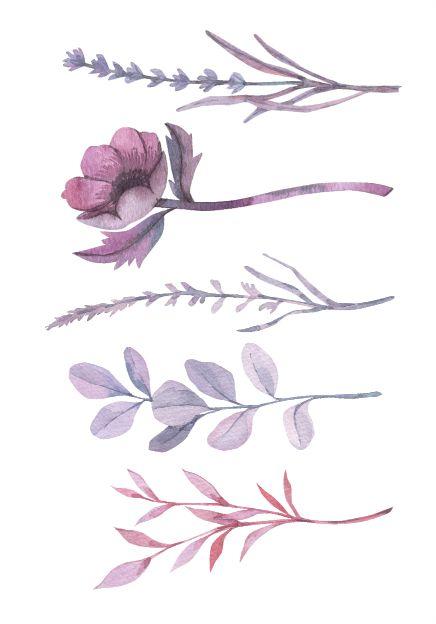 C075 Floral roxo