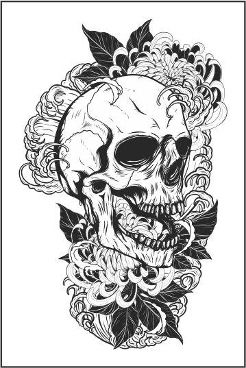 Tatuagem Braço | Caveira | PB