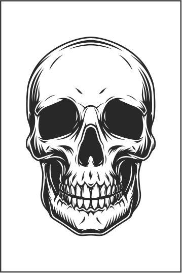 Tatuagem Caveira | PB| VR011