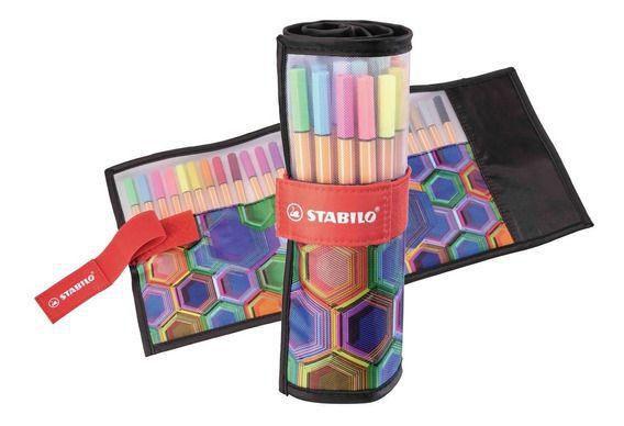 Estojo de Canetas Stabilo Pen 88 ARTY  - 25 cores