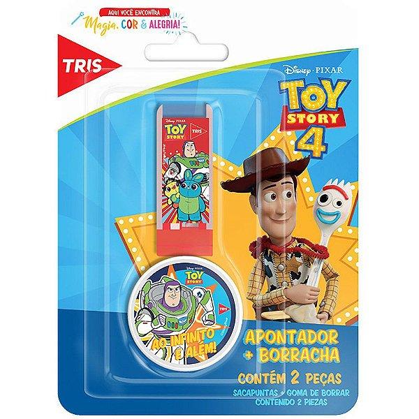 Apontador com Depósito + Borracha Toy Story - Tris