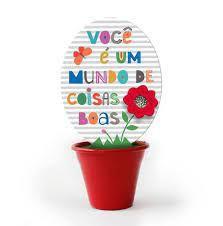 Mini Vaso Frases Coloridas - Fina Ideia
