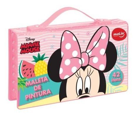 Maleta de Pintura Minnie Mouse ( 42 itens)  - Molin