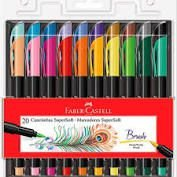 Caneta  SuperSofth Brush  20 CORES - Faber Castell