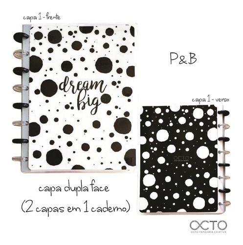 Caderno P&B ( Tamanho A5) - Octo