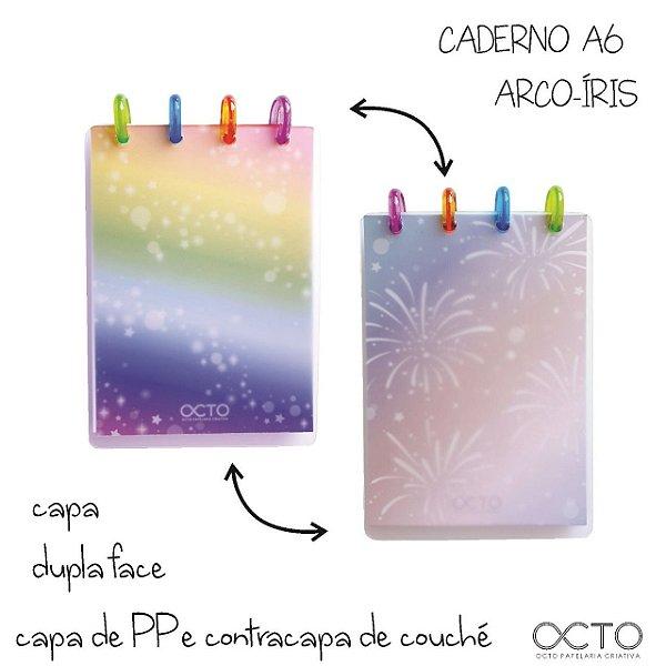 Caderno Arco iris ( Tamanho A6) - Octo