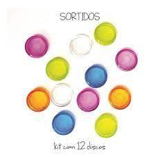 Kit de Discos Coloridos Transparentes ( para 90 folhas) Octo