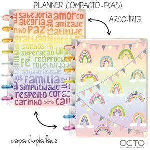 Planner de Discos Compacto  Arco-Íris (Tamanho A5) - Octo