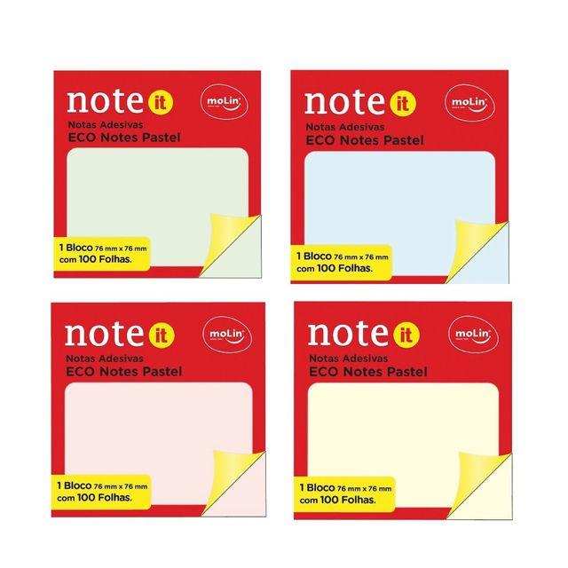 Notas Adesivas Eco Pastel - Molin