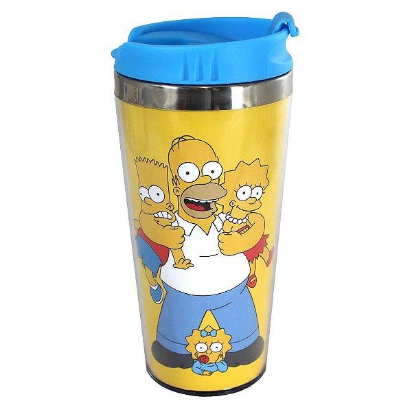 Copo Viagem 450 ml  Simpsons Família