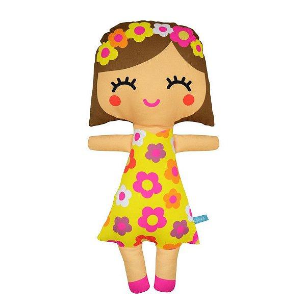 Boneca Floridinha Amarela Tam G