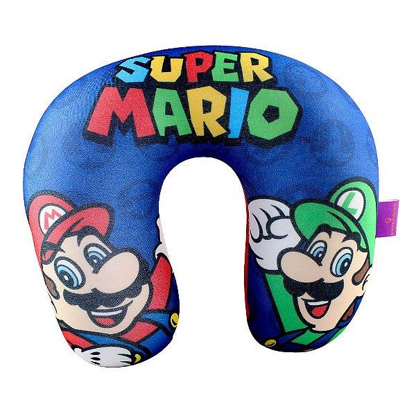 Almofada Pescoço Micropérolas  Super Mário