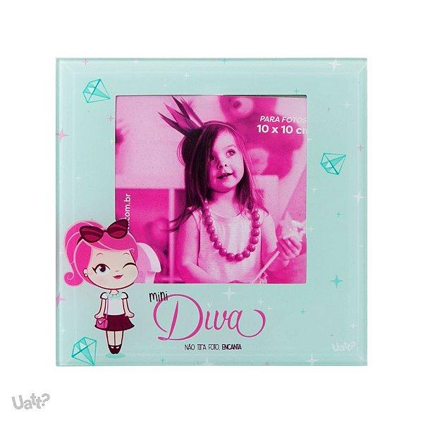 Porta Retrato Vidro - Mini Diva