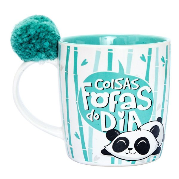 Caneca Pompom- Panda