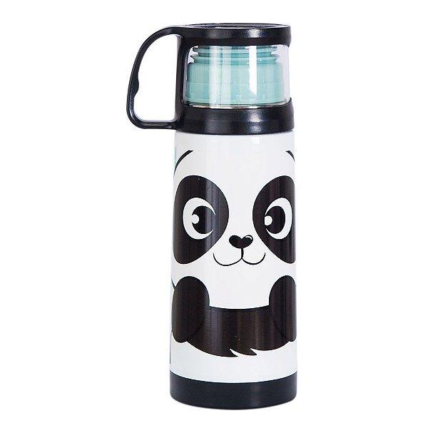 Squeeze Térmica com Caneca 350ml - Panda