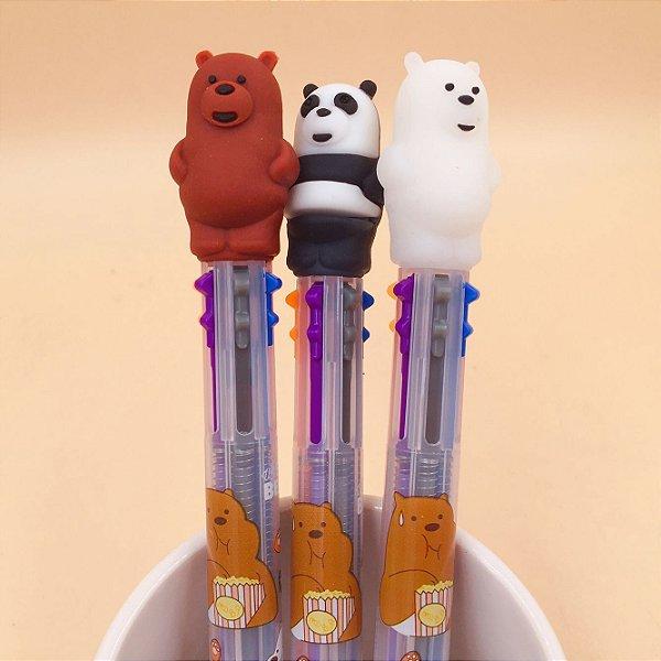 Caneta Esferográfica 6 Cores  - Urso sem Curso