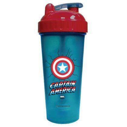 Shaker Fitness 600 ml - Capitão América