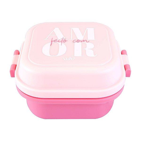 Mini Marmita Quadrada - Cor de Rosa