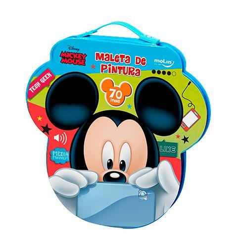 Maleta de Pintura Face Mickey Mouse ( 70 itens)