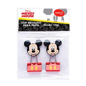 Binder Clip Mickey Bolsa ( Kit com 2 Unidades)