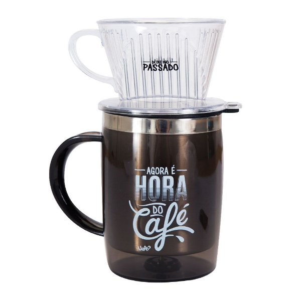 Caneca com filtro - Hora do café