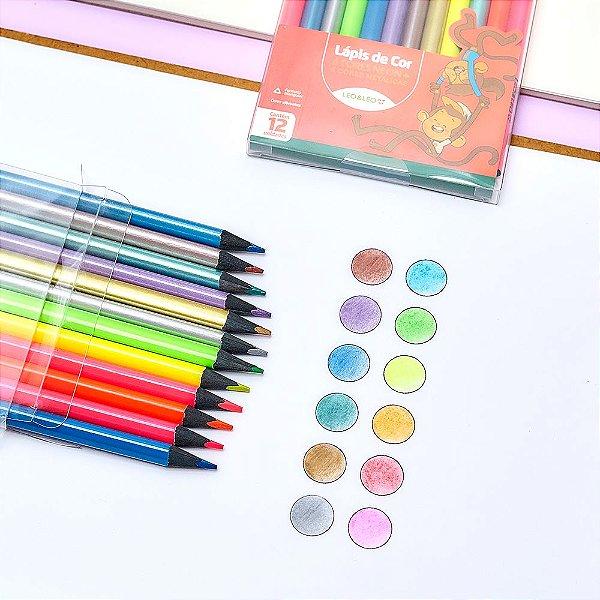 Lápis de Cor Neon - Leo&Leo (12 cores)