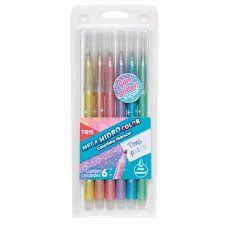 Caneta Hidrocor - Tons Pastel com Glitter - Tris