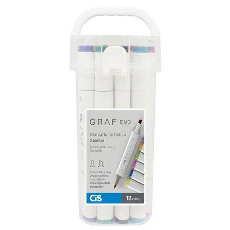 Marcador Artístico Pincel Graf Duo Brush (12 Cores) Cis