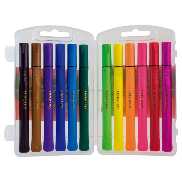 Hidrocor Brush ( 12 cores) - Leo&Leo