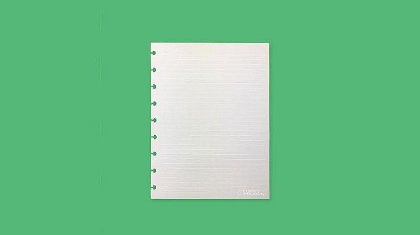 Refil Pautado Linha Branca (Grande 90g) - Caderno Inteligente