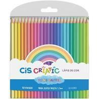 Lápis de Cor Tons Pastel 24 cores - Cis