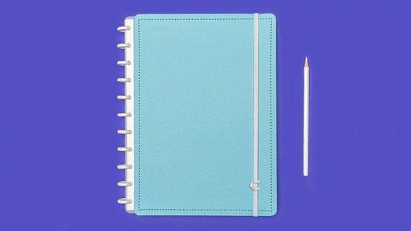 Caderno Azul Celeste Medio - Caderno Inteligente