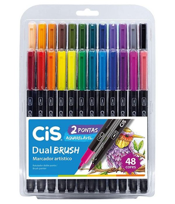 Estojo Dual Brush ( 48 cores)  - Cis