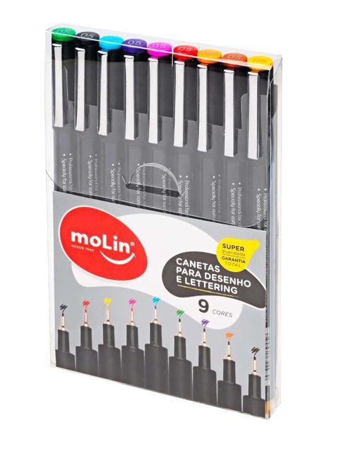 Caneta Coloridas  para desenho e lettering - Molin