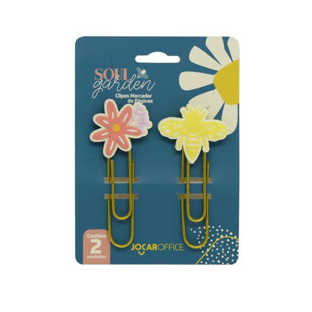 Clipes Soul Garden - Abelha + Flor - Jocar Office