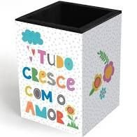Porta-lapis Frases Coloridas - Fina Idéia