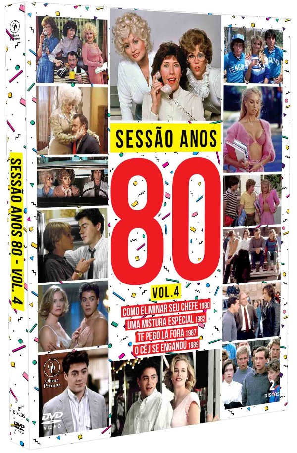SESSÃO ANOS 80 - VOLUME 04 - DIGIPAK COM 2 DVD'S