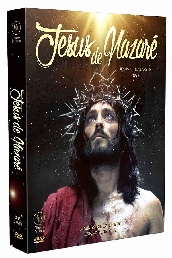 JESUS DE NAZARÉ: MINISSÉRIE COMPLETA - EDIÇÃO DEFINITIVA! (DIGISTAK COM 3 DVD'S)