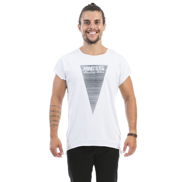 Triângulo Linhas Branco