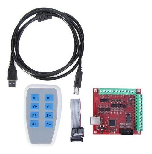 Kit Placa Controladora 4 Eixos Usb para Mach3 + Controle Manual