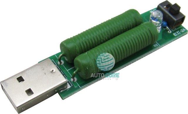 Módulo Resistor Teste de Carga Usb 1A/2A