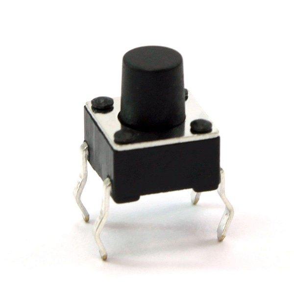 Botão Táctil KFC-A06 - 6X6X7mm - 4T - 180°