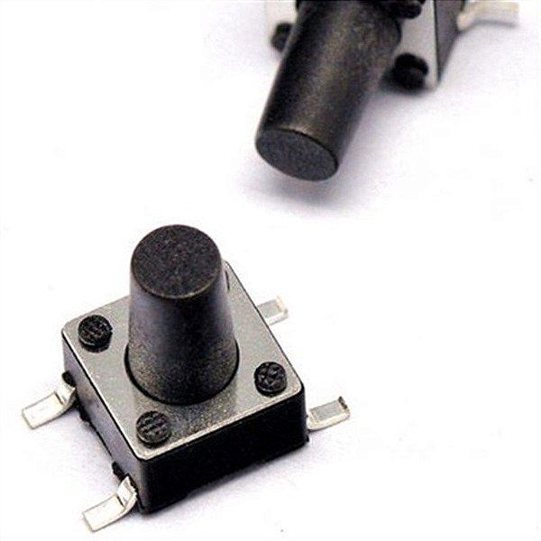 Botão Táctil KFC-A06 - 6X6X9mm - 4T - 180° - SMD